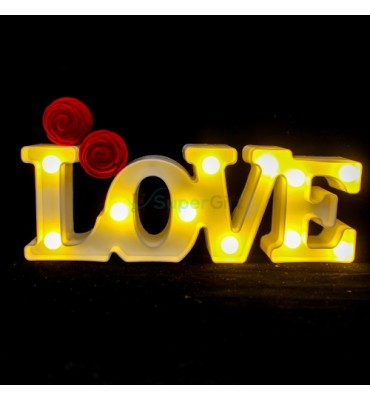 """LOVE"" LED Light up Alphabet"