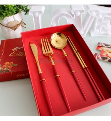 Luxury Cutlery Set Rose...