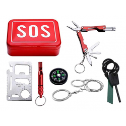 Emergency Survival SOS Tool Box Traveler Gift