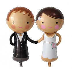 Wedding Couple Foil Balloon Bride and Groom Balloon