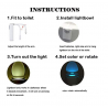 LED Motion Sensor Automatic Toilet Bowl Night Light