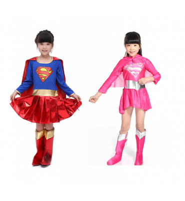 Kids Super girl Costume Superhero Costume